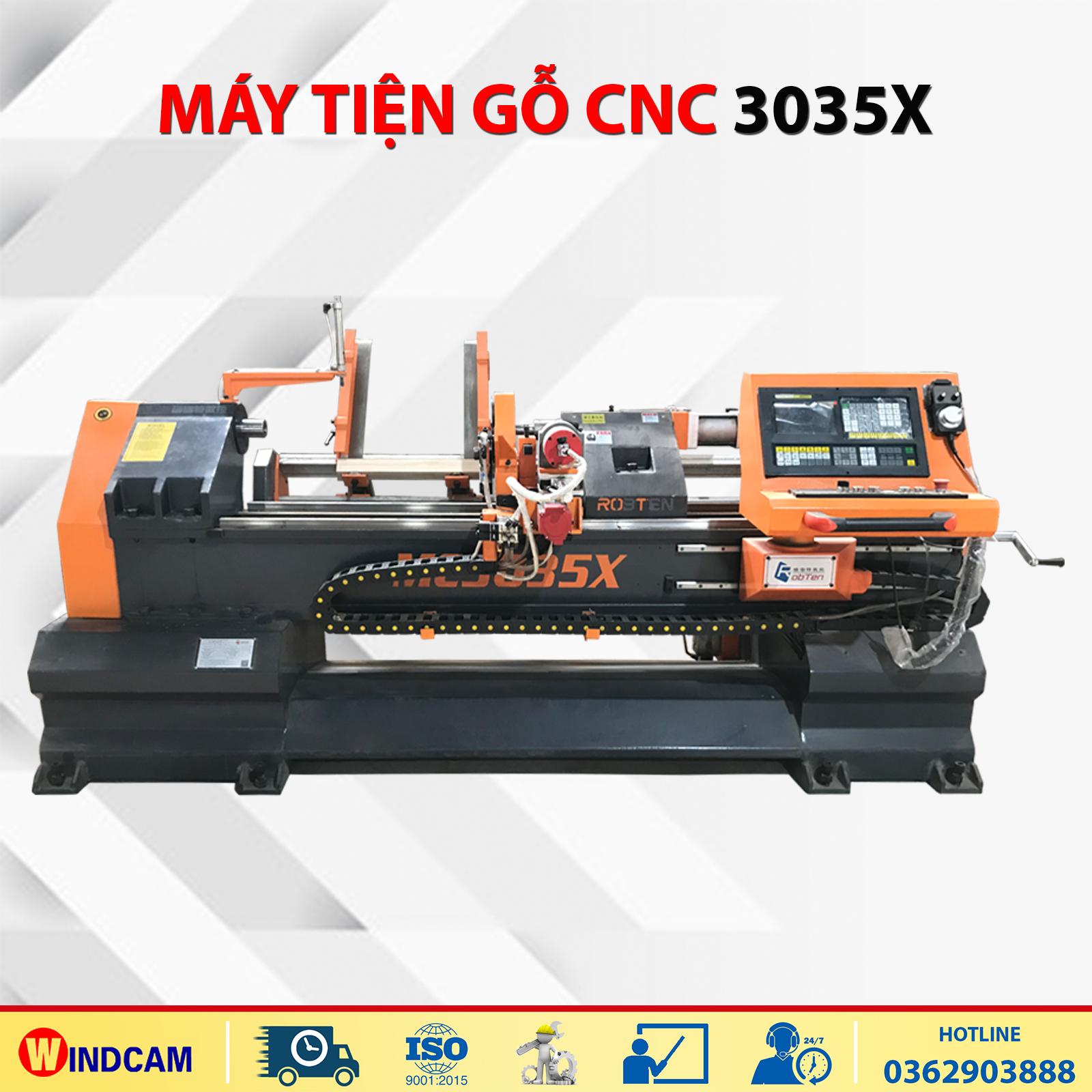 Máy tiện gỗ CNC gá phôi tự động MC3035X
