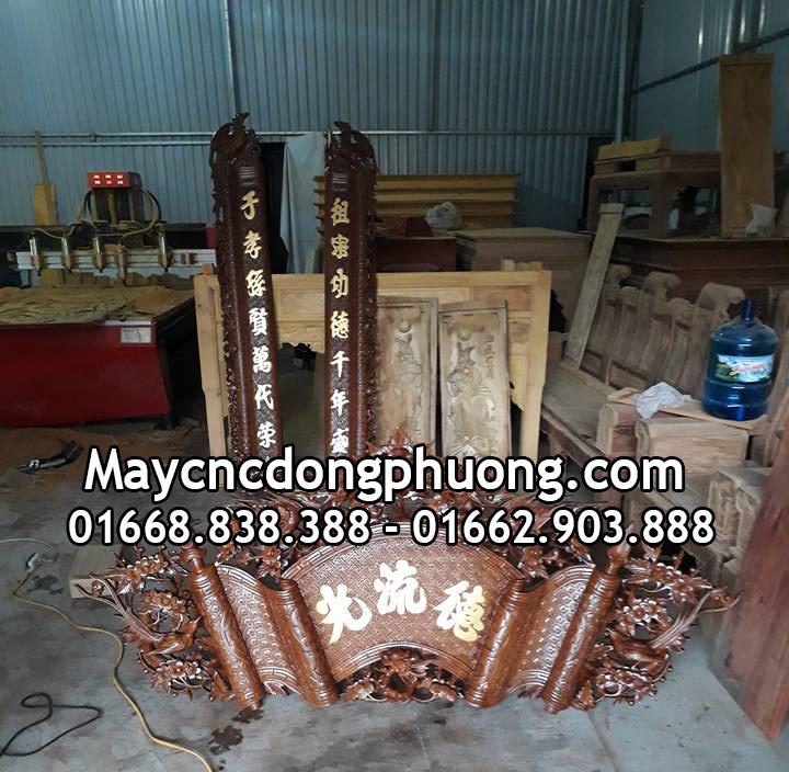 Xu hướng mẫu bàn thờ gỗ mới nhất được tạo nên từ máy cnc khắc gỗ