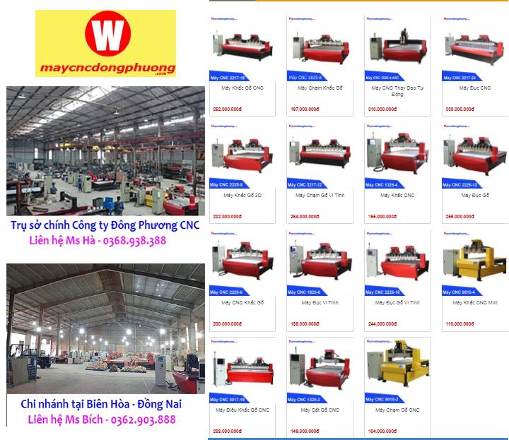 Địa chỉ cung cấp máy cnc điêu khắc gỗ tại Khánh Hòa, Bình Thuận, Ninh Thuận.