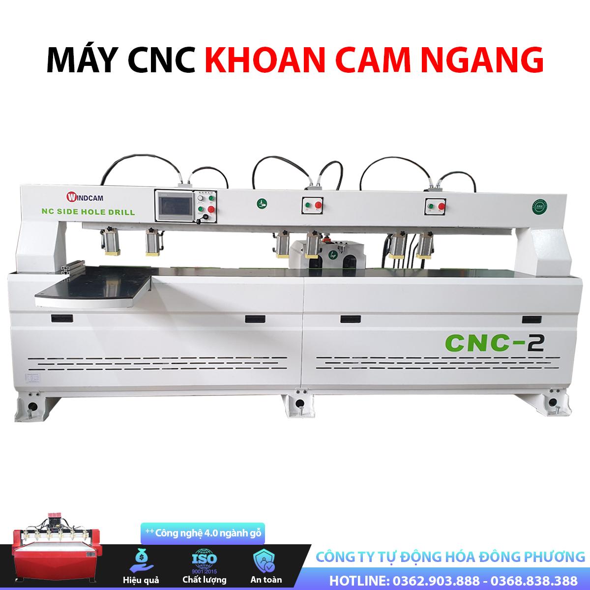 Máy CNC khoan cam ngang 2 đầu